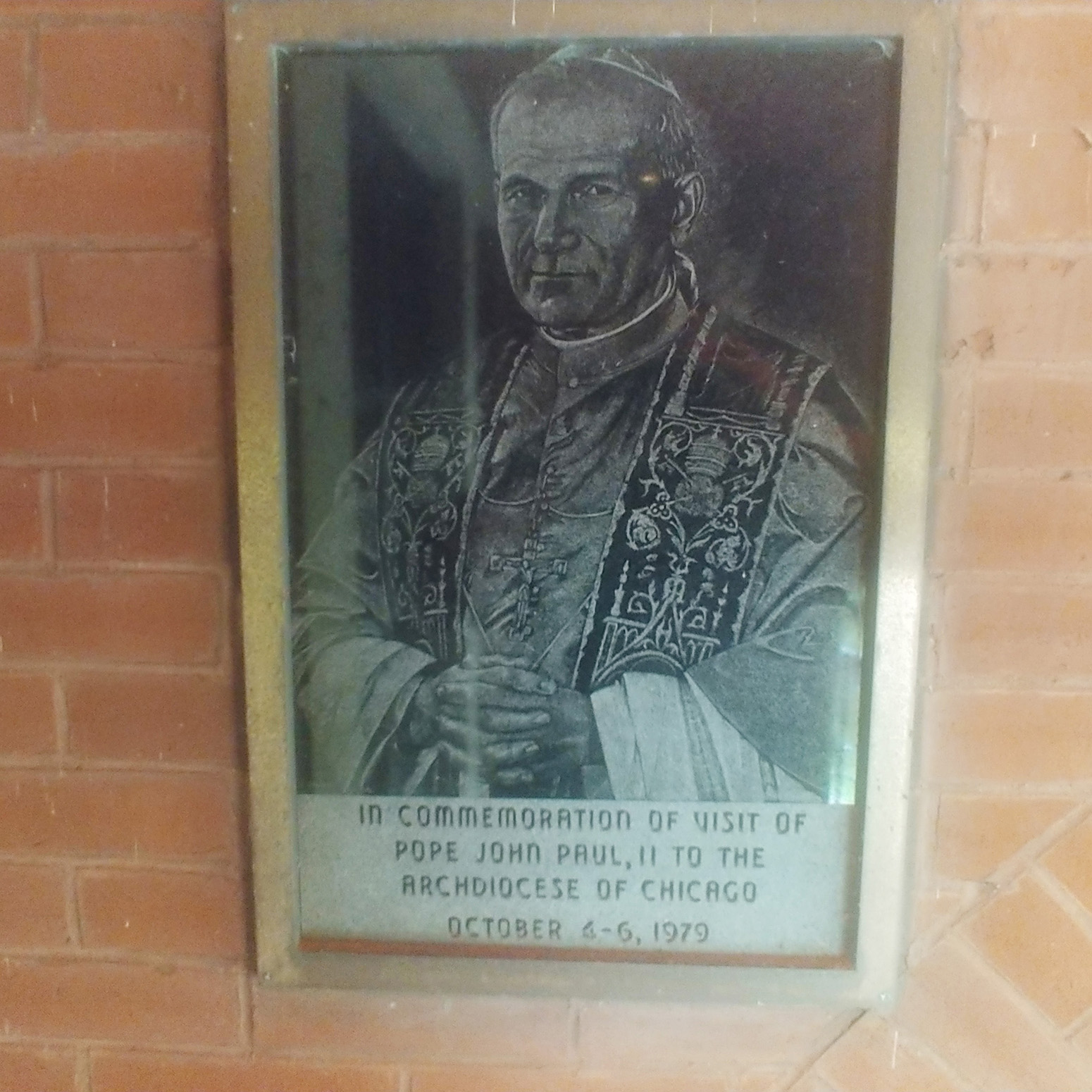 Pope John Paul II gast granite slab