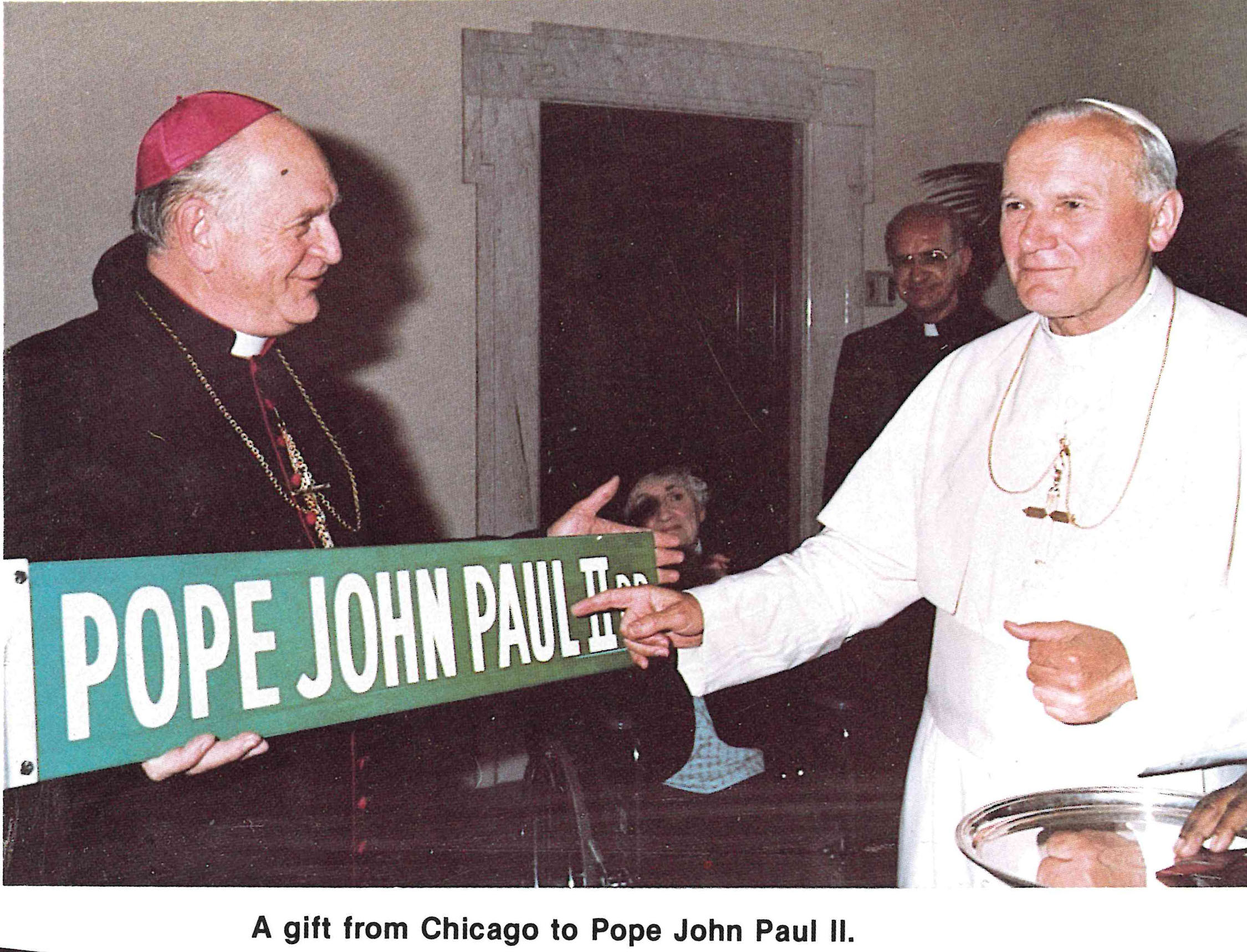 Chicago gift Pope John Paul II